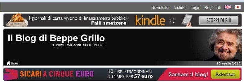 Grillo kindle