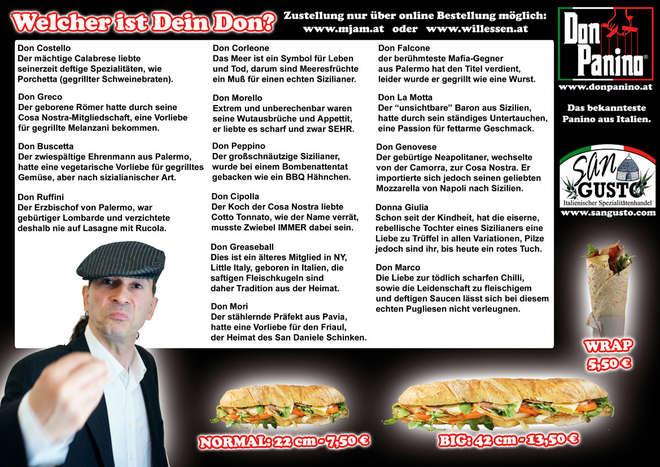 don panino menu
