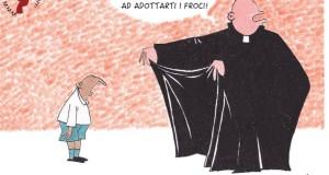 Vignetta contro i preti pedofili, e #Facebook oscura la pagina anti-omofobia