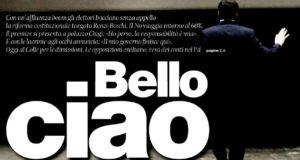 """Dettaglio della prima pagina de """"Il Manifesto"""" di oggi"""